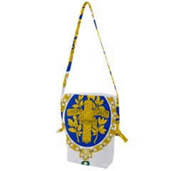 Coat Of Arms Of The French Republic Folding Shoulder Bag by abbeyz71