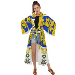Coat Of Arms Of The French Republic Maxi Kimono by abbeyz71