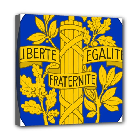 Arms Of The French Republic Mini Canvas 8  X 8  (stretched) by abbeyz71
