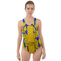 Arms Of The French Republic Cut-out Back One Piece Swimsuit by abbeyz71