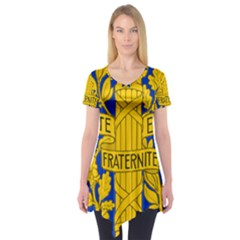 Arms Of The French Republic Short Sleeve Tunic  by abbeyz71