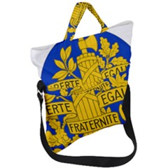 Arms Of The French Republic Fold Over Handle Tote Bag by abbeyz71