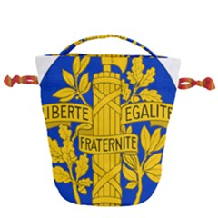 Arms Of The French Republic Drawstring Bucket Bag by abbeyz71
