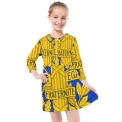 Arms Of The French Republic Kids  Quarter Sleeve Shirt Dress by abbeyz71