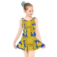 Arms Of The French Republic Kids  Skater Dress Swimsuit by abbeyz71