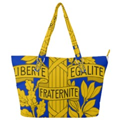 Arms Of The French Republic Full Print Shoulder Bag by abbeyz71