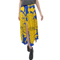 Arms Of The French Republic Velour Split Maxi Skirt by abbeyz71