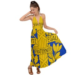 Arms Of The French Republic Backless Maxi Beach Dress by abbeyz71