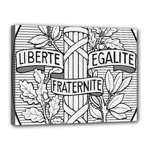 Arms Of The French Republic  Canvas 16  X 12  (stretched) by abbeyz71