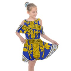 Coat Of Arms Of The French Republic, 1905-1953 Kids  Shoulder Cutout Chiffon Dress by abbeyz71