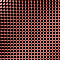 Between Circles Coral And Black Fabric by TimelessDesigns