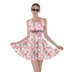 Cute Easter Bunny Pink Skater Dress