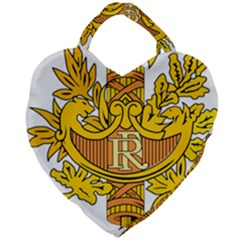 French Republic Diplomatic Emblem Giant Heart Shaped Tote by abbeyz71