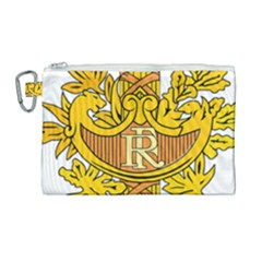 French Republic Diplomatic Emblem Canvas Cosmetic Bag (large) by abbeyz71
