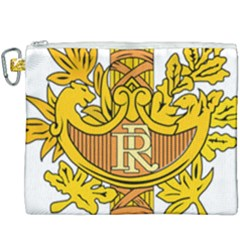 French Republic Diplomatic Emblem Canvas Cosmetic Bag (xxxl) by abbeyz71