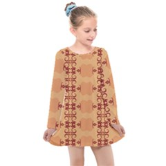 Background Wallpaper Brown Kids  Long Sleeve Dress