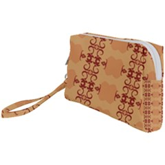 Background Wallpaper Brown Wristlet Pouch Bag (small)