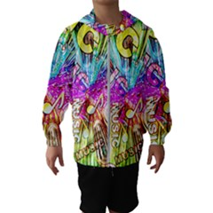 Music Abstract Sound Colorful Kids  Hooded Windbreaker