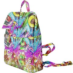 Music Abstract Sound Colorful Buckle Everyday Backpack