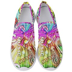 Music Abstract Sound Colorful Men s Slip On Sneakers by Mariart
