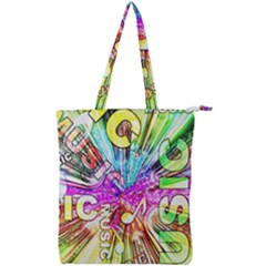 Music Abstract Sound Colorful Double Zip Up Tote Bag