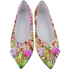 Music Abstract Sound Colorful Women s Bow Heels by Mariart