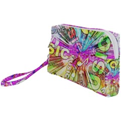 Music Abstract Sound Colorful Wristlet Pouch Bag (small)
