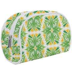 Green Pattern Retro Wallpaper Makeup Case (large) by AnjaniArt