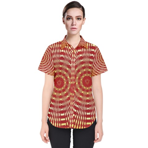 Pattern Background Structure Women s Short Sleeve Shirt by Alisyart