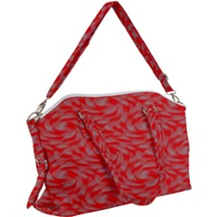 Background Abstraction Red Gray Canvas Crossbody Bag
