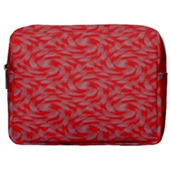 Background Abstraction Red Gray Make Up Pouch (large) by HermanTelo