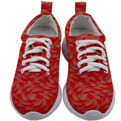 Background Abstraction Red Gray Kids Athletic Shoes by HermanTelo