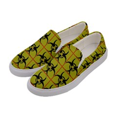 Biohazard Sign Women s Canvas Slip Ons by ArtworkByPatrick