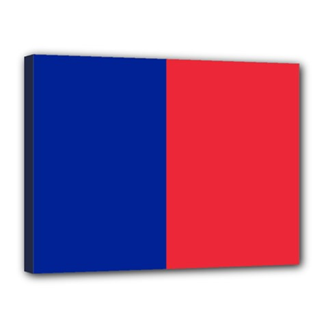 Flag Of Paris Canvas 16  X 12  (stretched) by abbeyz71