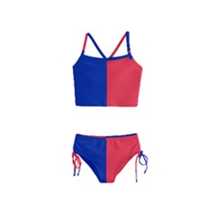 Flag Of Paris Girls  Tankini Swimsuit