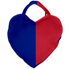 Flag Of Paris Giant Heart Shaped Tote by abbeyz71
