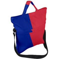 Flag Of Paris Fold Over Handle Tote Bag by abbeyz71