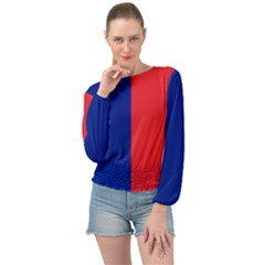 Flag Of Paris Banded Bottom Chiffon Top