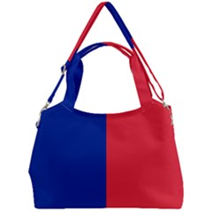 Flag Of Paris Double Compartment Shoulder Bag