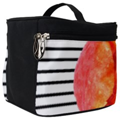 Tulip Watercolor Red And Black Stripes Make Up Travel Bag (big) by picsaspassion