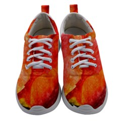Spring Tulip Red Watercolor Aquarel Women Athletic Shoes by picsaspassion