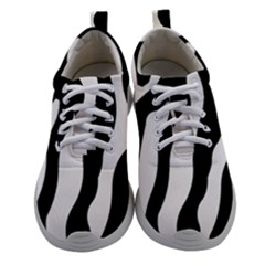 Wild Zebra Pattern Black And White Women Athletic Shoes