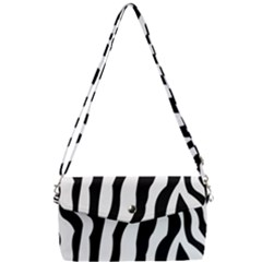 Wild Zebra Pattern Black And White Removable Strap Clutch Bag