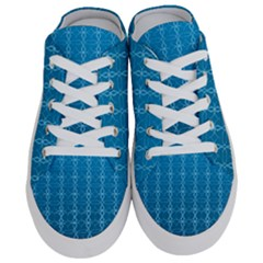 Background Texture Pattern Blue Half Slippers