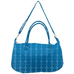 Background Texture Pattern Blue Removal Strap Handbag