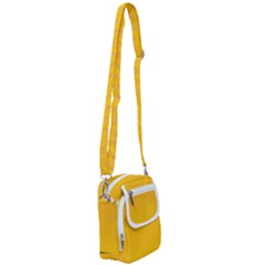 Background Polka Yellow Shoulder Strap Belt Bag by HermanTelo
