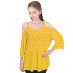 Background Polka Yellow Flutter Tees