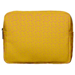 Background Polka Yellow Make Up Pouch (large)