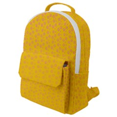Background Polka Yellow Flap Pocket Backpack (small)