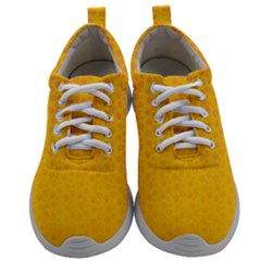 Background Polka Yellow Mens Athletic Shoes by HermanTelo